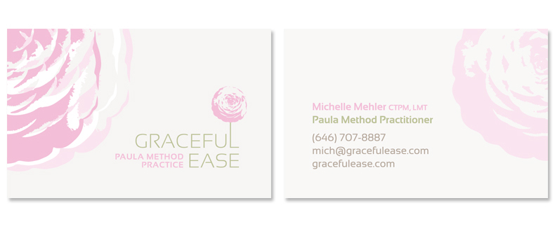 Graceful Ease business cards design