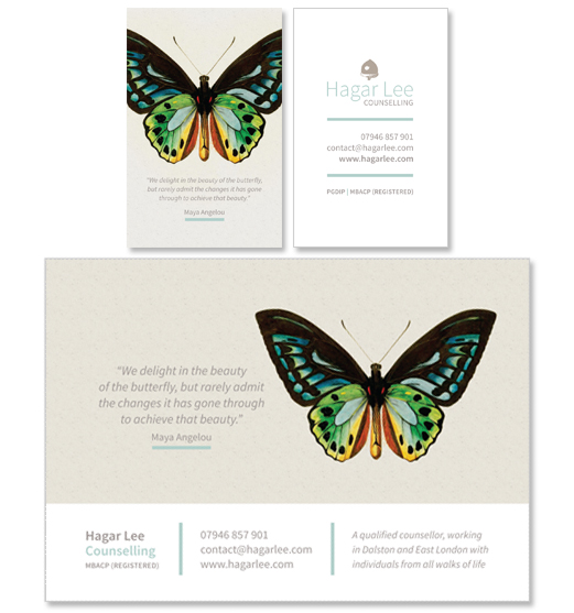 >Graphic & print design for therapists
